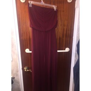 *worn once* Maroon maxi dress with halter tie